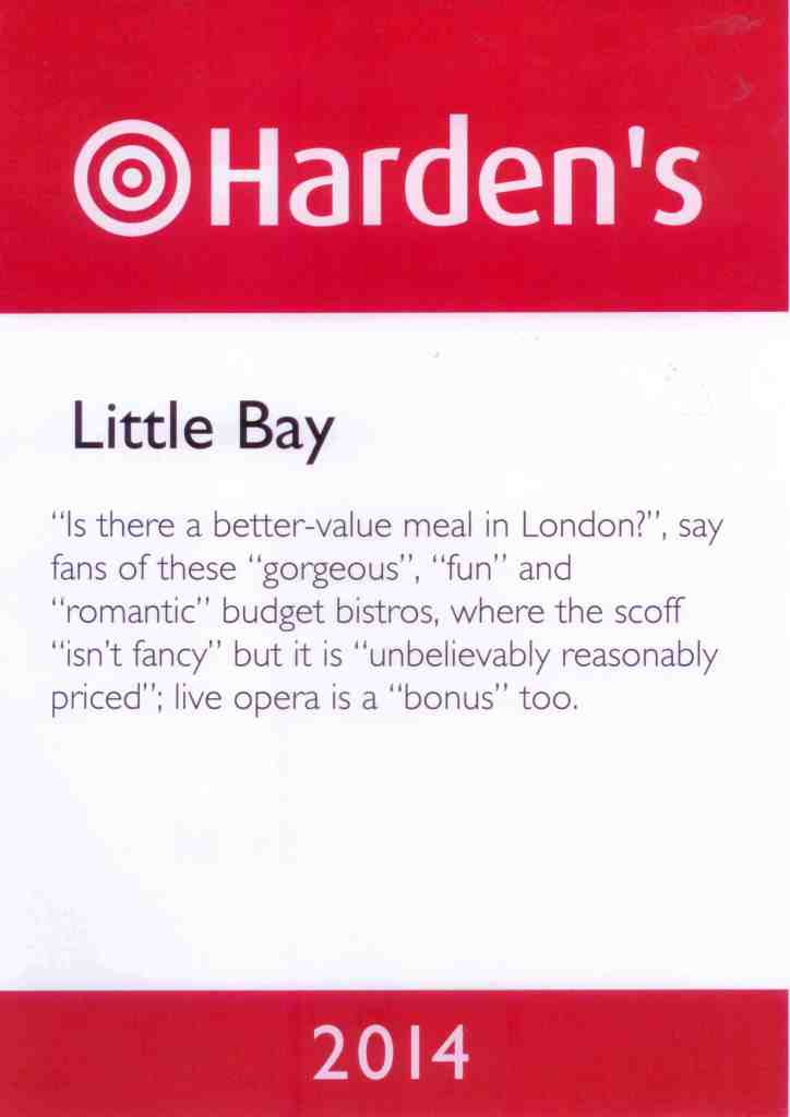 Little Bay Hardens Certificate 2014